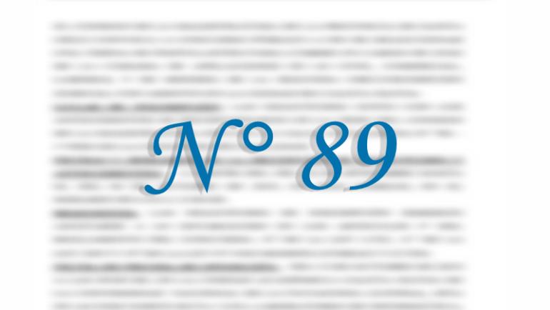 Concurso N° 89