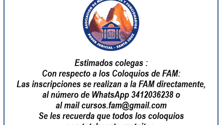 Coloquios FAM