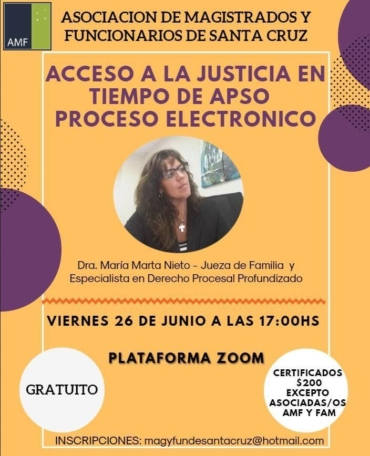 Acceso a la Justicia en tiempo de APSO Proceso Electrónico