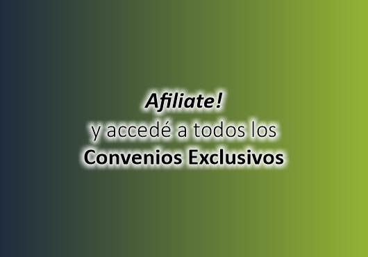Afiliate! Nuevos Convenios