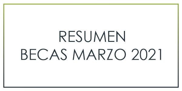 RESUMEN BECAS MARZO 2021